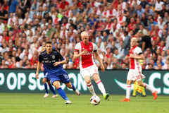 UEFA Champions League third qualifying round between Ajax vs PAO Royalty Free Stock Image