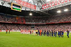 UEFA Champions League third qualifying round between Ajax vs PAO Stock Images