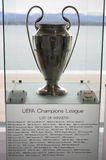 Uefa Champions League Trophy. Pictured in Nyon, Switzerland at the Uefa Center stock photo