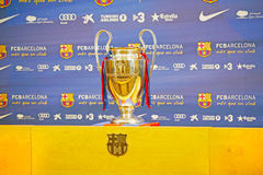 UEFA Champions League Trophy Tour 2012 Stock Image
