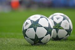 2016/2017 UEFA champions league urzędnika piłek Zdjęcia Stock