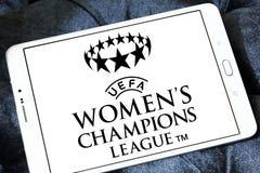 UEFA-de Ligaembleem van Vrouwen` s Kampioenen royalty-vrije stock foto