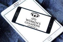 UEFA-de Ligaembleem van Vrouwen` s Kampioenen stock foto