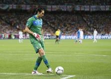 UEFA euro 2012 Ćwierćfinałowych gemowych Anglia v Włochy Fotografia Stock