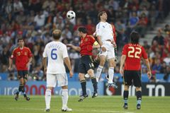 UEFA Euro 2008 - Greece v. Spain June 18, 2008 Royalty Free Stock Photo