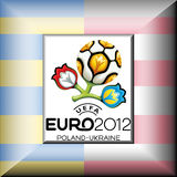 UEFA Euro 2012. Emblem of UEFA European Football Championship 2012, called Euro 2012, will be the 14th European Championship for national football teams Stock Image