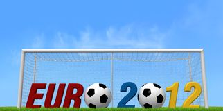 Uefa euro 2012 background. For many use -outdoor version- rendering Stock Photography