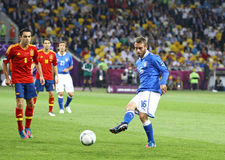 UEFA EURO 2012 Final Game Spain Vs Italy Stock Photos