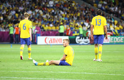 UEFA EURO 2012 game Sweden vs England Stock Photo