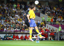 UEFA EURO 2012 game Sweden vs England Stock Photography