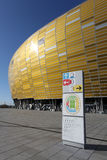 UEFA EURO 2012 GDANSK STADIUM SECTOR MAP Royalty Free Stock Photography