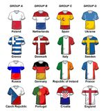 UEFA Euro 2012 Groups Stock Image
