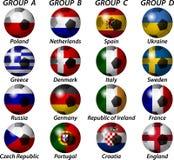 UEFA-Euro 2012 Gruppe Stockbild
