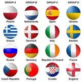 UEFA-Euro 2012 Gruppen Lizenzfreies Stockfoto