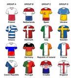 UEFA-Euro 2012 Gruppen Stockbild