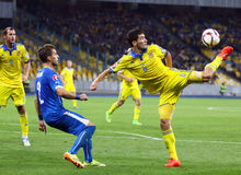 UEFA EURO 2016 Qualifying game Ukraine vs Slovakia Stock Photos