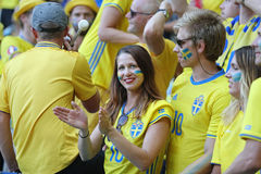 UEFA EURO 2016: Sweden v Belgium Royalty Free Stock Images