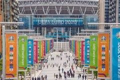 Free UEFA Euro 2020 At Wembley Stadium, London, UK Royalty Free Stock Photo - 221018265