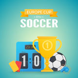 UEFA Euro 2016 background. Royalty Free Stock Photography