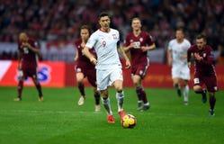 UEFA Euro 2020 draws Poland - Latvia stock image