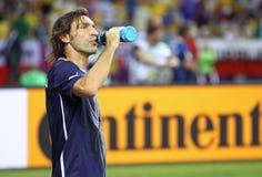 UEFA-EURO Endspiel 2012 Spanien gegen Italien Stockbilder