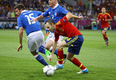 UEFA EURO 2012 Final game Spain vs Italy Royalty Free Stock Photography