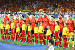 UEFA EURO 2012 Final game Spain vs Italy Royalty Free Stock Photos