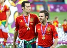 UEFA EURO 2012 Final game Spain vs Italy Stock Photos