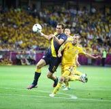 UEFA EURO 2012 football game Ukraine vs Sweden Royalty Free Stock Images