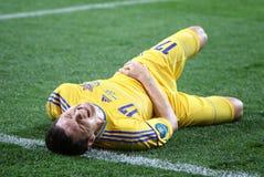 UEFA EURO 2012 football game Ukraine vs Sweden Royalty Free Stock Image