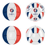 UEFA Euro 2016 France Ball Collection Royalty Free Stock Photos
