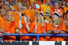UEFA EURO 2012 game Netherlands vs Germany Royalty Free Stock Images
