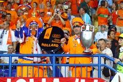 UEFA EURO 2012 game Netherlands vs Germany Royalty Free Stock Photo