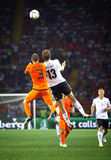 UEFA EURO 2012 game Netherlands vs Germany Stock Photos