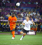 UEFA EURO 2012 game Netherlands vs Germany Royalty Free Stock Photography