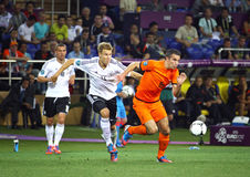UEFA EURO 2012 game Netherlands vs Germany Royalty Free Stock Images