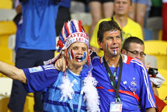 UEFA EURO 2012 game Sweden vs France Stock Images