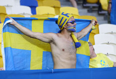 UEFA EURO 2012 game Sweden vs France Royalty Free Stock Photo