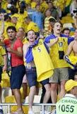 UEFA EURO 2012 game Sweden vs France Royalty Free Stock Photo