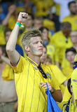 UEFA EURO 2012 game Sweden vs France Royalty Free Stock Photography
