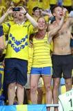 UEFA EURO 2012 game Sweden vs France Royalty Free Stock Photos