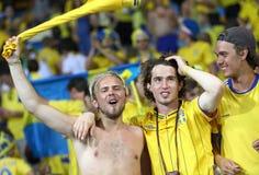 UEFA EURO 2012 game Sweden vs France Stock Images