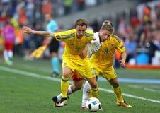 UEFA EURO 2016 game Ukraine v Poland Royalty Free Stock Photo