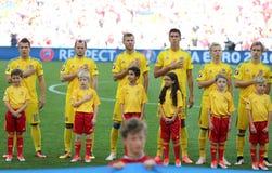 UEFA EURO 2016 game Ukraine v Poland Royalty Free Stock Photos