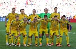 UEFA EURO 2016 game Ukraine v Poland Stock Image