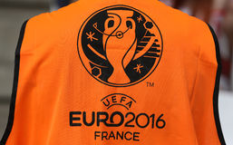 UEFA EURO 2016 game Ukraine v Poland Royalty Free Stock Photography