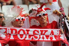 UEFA euro 2016 gemowych Ukraina v Polska Zdjęcia Royalty Free