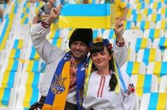 UEFA euro 2016 gemowych Ukraina v Polska Fotografia Stock