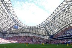 UEFA euro 2016 gemowych Ukraina v Polska Zdjęcia Stock