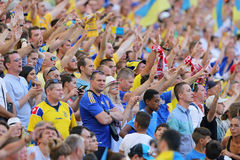 UEFA euro 2016 gemowych Ukraina v Polska Obraz Stock